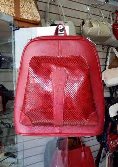 Morral de Cuero Rojo Ref 640