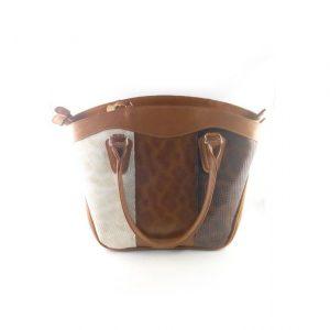 Bolso de cuero referencia 639, combinado con colores beige, café y marron