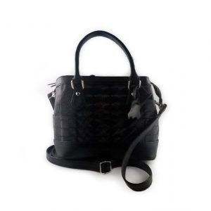 Bolso referencia 658 en cuero color negro