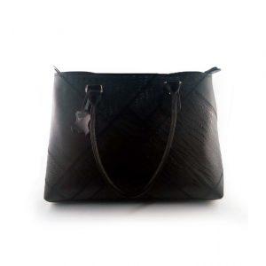 Bolso de cuero referencia 659 de color negro, fabricado en colombia