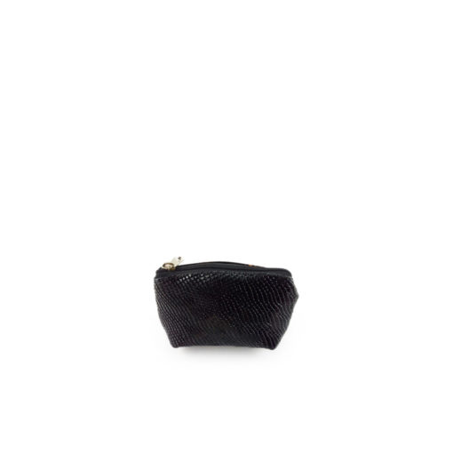Monedero de cuero de confección ref 310 color negro