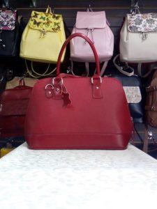 Bolso Cuero Rojo Repujado