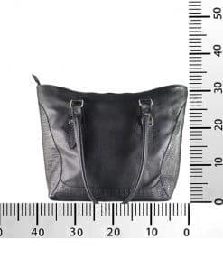 Bolso de Cuero Hebillas negro medidas