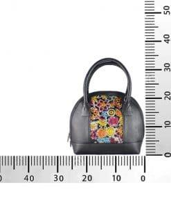 Bolso de Cuero Manijas negro PQ medidas