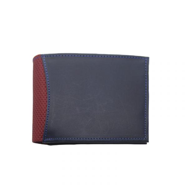 Billetera de cuero azul con rojo interna - Cueros Hazard