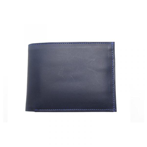 Billetera de cuero azul interna - Cueros Hazard