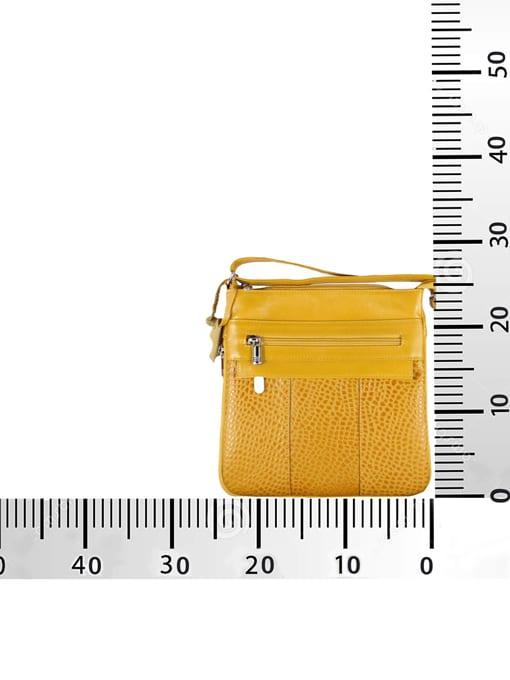 Bolso de cuero Expansión Color mostaza medidas - Cueros Hazard