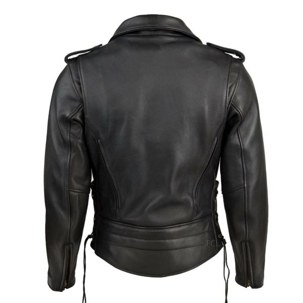 Chaqueta Clásica Sencilla Negra de espaldas