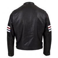 Chaqueta Sport Cuero Negro de espaldas