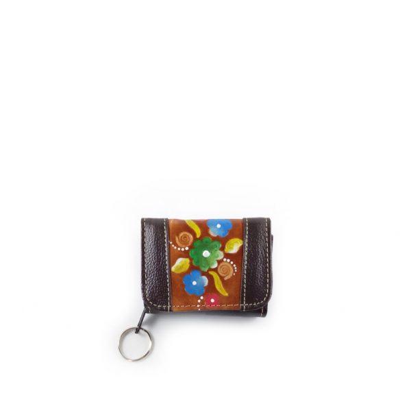 monedero billetera de colores negro y café hecho en cuero - Cueros Hazard